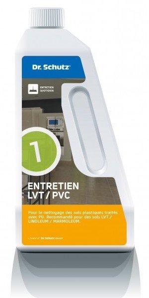 Un bidon de 750 mL de produit d'entretien Dr. Schutz pour sols LVT ou PVC