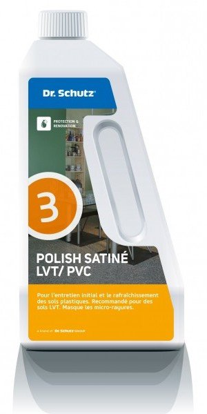 Un bidon de polish satiné pour sols PVC ou LVT