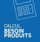 Le logo de l'outil de calcul du besoin produits en ligne