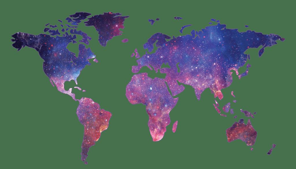 Une carte du monde.